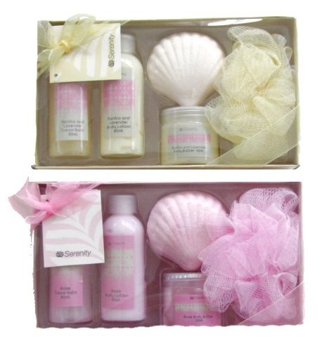 Ladies Bath and Body Gift Set - Vanilla With Lavender