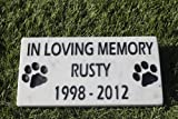 Sandblast Engraved Marble Pet Memorial Headstone Grave Marker Dog Cat ilm 4x8