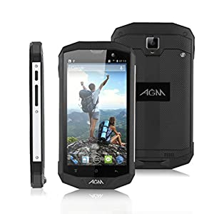 2015 Newest AGM® STONE 5S 5 Inch Unlocked Three Anti-aircraft Sports 4G Smartphone- IP67 Waterproof Dustproof Shockproof 4G Android 4.4.2 OS Kitkat Cellphone Quad Core MSM8926 1.2GHz RAM 1GB+ROM 8GB WIFI GPS OTG Android Apps Mobile Phone Support 2G/3G /4G Network