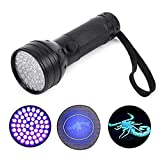 NewVan Tech UV Ultraviolet Flashlight Blacklight, 51 LED 395 nM Handheld Portable Black light Pet Urine and Stain Detector