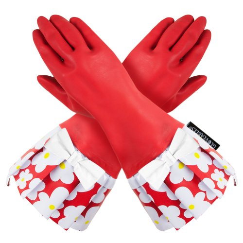 RED GLOVEABLES, RED FLOWER TRIM, WHITE BOW