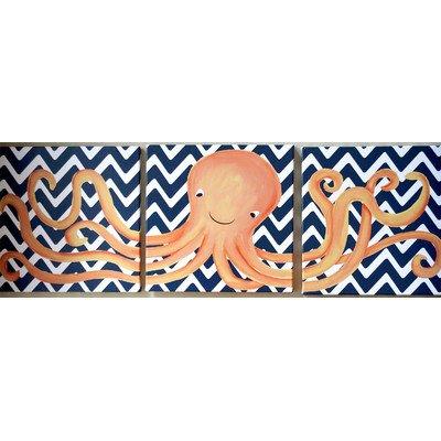 Doodlefish DB1480-nc-tri Oakley Octopus Triptych Artwork