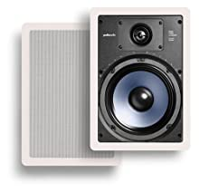 Polk Audio RC85i 2-Way In-Wall Speakers Pair White