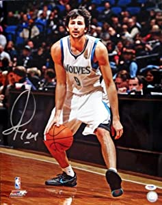 Ricky Rubio Autographed Hand Signed Minnesota Timberwolves 16x20 Photo #1 PSA DNA by Hall of Fame Memorabilia