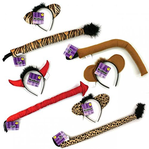 Halloween Animal Headband and Tail Costume Set