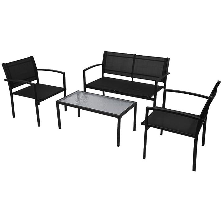 vidaXL Set mobili da giardino con panca 4 pezzi