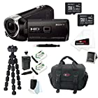 Sony HDR-PJ275/B HDRPJ275 PJ275 8GB Full HD 60p Camcorder w/ built-in Projector + (2) Sony MicroSD 32GB + Replacement NP-BN1 Battery + Focus Deluxe SLR Soft Shell Case + Accessory Kit