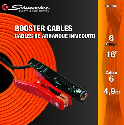 Schumacher BC-1606 16' 6-Gauge Orange Battery Booster Cable