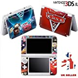 CARS BLUE Vinyl Skin Sticker For Nintendo 3DS XL Console Vinyl Skin Cover In A Retail Pack. Ready For Fast 1st Class UK Post.