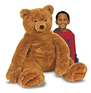 Melissa Doug Jumbo Brown Teddy Bear - Plush by Melissa & Doug