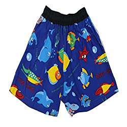 Titrit navy blue cotton girls shorts