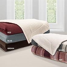 Premier Comfort Microlight To Berber Throw - Brown - 50x60quot