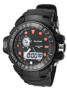 Aivtalk Students Led Sport Watch Fashion Water Resistant Wristwatch With Day Date Alarm Wathes For Boys Birthday Gift - Orange