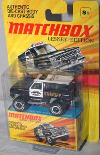 2011 Matchbox Lesney Edition 1989 CHEVY BLAZER Monc Blue County police SHERIFF black and white (Diecast Chevy Truck 1989 compare prices)