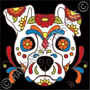 Hand Painted Tile Backsplash Amazon.com: 6x6 Tile Day of the Dead Dog Sugar Skull: Home ...