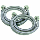 watts 2pbspw60 1212 5 foot stainless steel washing machine hose 2 pack
