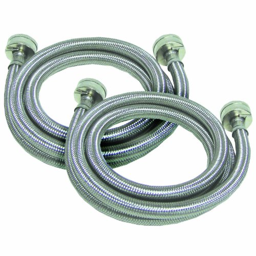 Watts 2PBSPW60-1212 5-Foot Stainless Steel Washing Machine Hose, 2-Pack