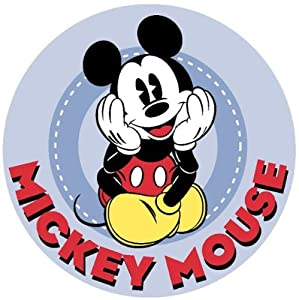 Disney Mickey Sitting Rug 39 X 39 by Fun Rugs