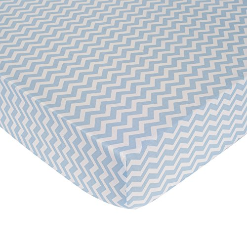Carter's Zig Zag Crib Fitted Sheet, Blue (Discontinued by Manufacturer) - 1
