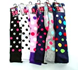 3 PAIRS LADIES GIRLS LONG WELLY BOOT SOCKS UK 4-7 EU 35-41 SPOTTED THICK COTTON