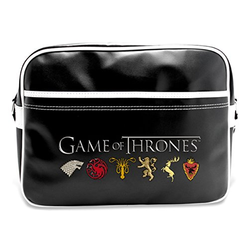 Abystyle ABYBAG098 - Borsa a tracolla di Game of Thrones: Coat of Arms of the Kingdoms, 48 cm, 25 litri