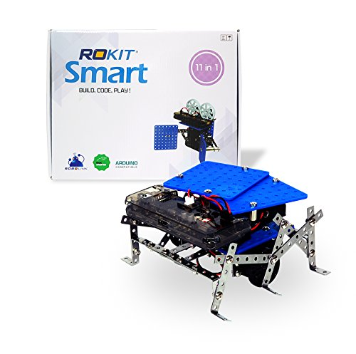 11 in 1 Programmable Robot Kit - STEM Learning Educational Robotics Kit for Beginner and Arduino Learners with Video Tutorials, Rokit Smart by Robolink (16 Hertz Starter Kit compare prices)