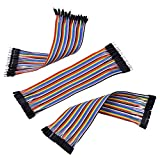 eBoot Breadboard Jumper Wires Ribbon Cables Kit Dupont Wire 40 Pin M/ M, 40 Pin M/ F, 40 Pin F/ F Multicolored for Arduino, 120 Pieces