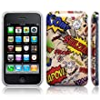 iPhone 3GS / 3G Comic Capers Back Cover Case / Shell / Shield - Multicoloured