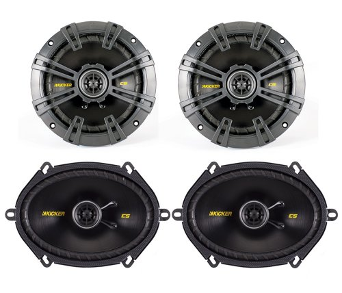"2) Kicker 40Cs654 6.5"" 300W + 2) 40Cs684 6X8"" 450W 2-Way Coaxial Car Speakers"