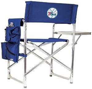 NBA Philadelphia 76ers Portable Folding Sports Chair, Navy by Picnic Time