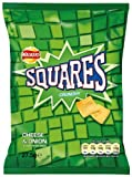 Walkers Squares Cheese and Onion Potato Snacks 27.5 g (Pack of 48)