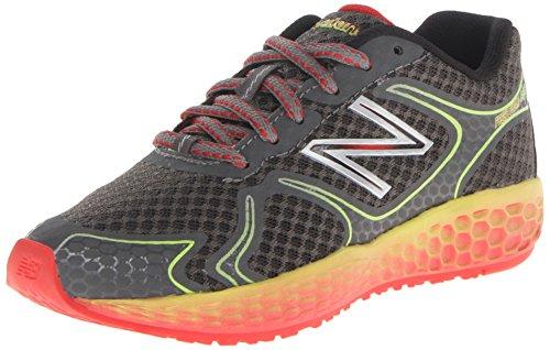 New Balance KJ980 Fresh Foam Running Shoe , Grey/Yellow, 2.5