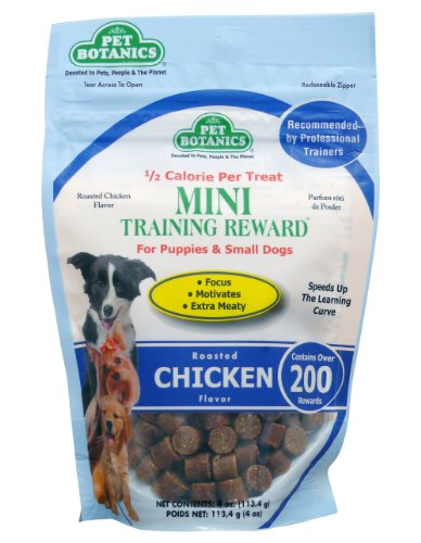 Cardinal Laboratories Botanic Training Rewards Mini Treats for Small Dogs, Chicken, 4-Ounce
