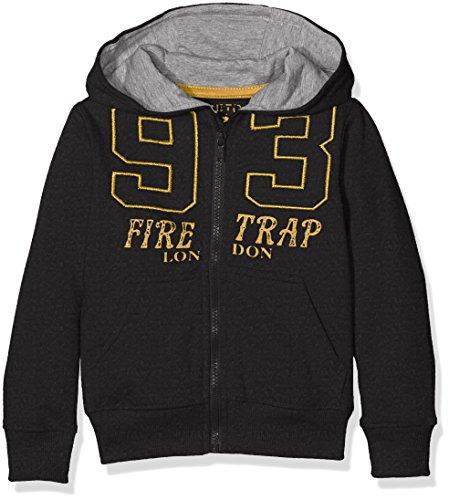 Firetrap Zip Through 93, Cappuccio Bambino, Grigio (Grey Marl), 12-13 Anni (Taglia Produttore: 12-13Y)