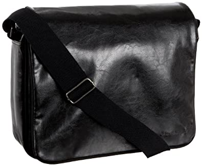 Ben Sherman Accessories Wet Look Messenger,Black,one size