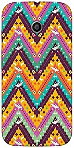 Snoogg Aztec Abstract Designer Protective Back Case Cover For Motorola E 2Nd ...