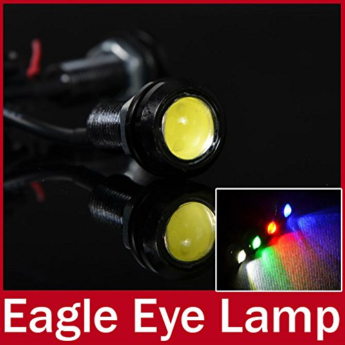 rexul (TM) 10 x pièces sur Ultra Fine à vis 3 W haute puissance LED Eagle Eye lumière Parking Jour Conduite de frein de secours Réserve DRL lampe étan