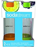 SodaStream 1/2-Liter Carbonating Bottle, Orange/Green, 2-Pack