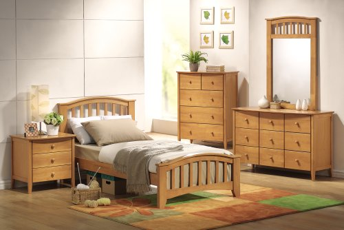 Cheap YOUTH KIDS BEDROOM FULL SIZE MAPLE FINISH SAN MARINO 5 PIECE SET (B008W1FYPK)