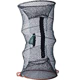 Foldable Crayfish Crab Lobster Fish Trap Net Pot 30cm