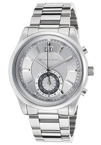 Michael Kors MK8417 43mm Silver Steel Bracelet & Case Mineral Men's Watch