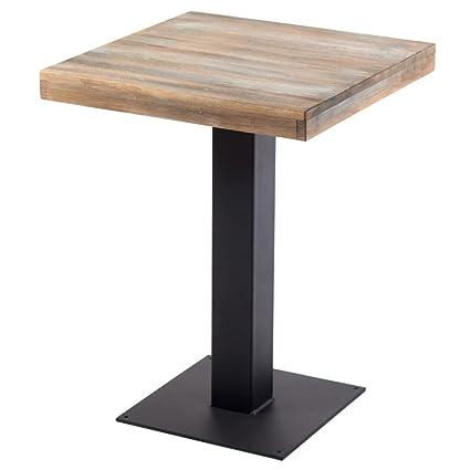Indhouse-Tavolo da ristoro e industriale motivo loft stile vintage in metallo e legno di Rochester