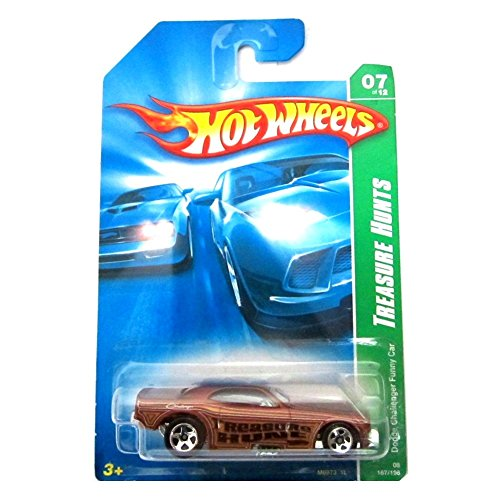 Hot Wheels Treasure Hunt 2008 Dodge Challenger Funny Car #07 of 12 1:64 Scale Die-Cast Vehicle - 1