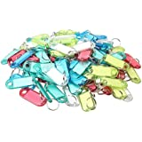 Vktech Assorted Color Key ID Label Tags,100 Pcs (Style B)