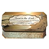 Proverbs 3:5-6 Trust In The Lord Footprints In The Sand Design Belle Papier Jewelry Music Musical Bo