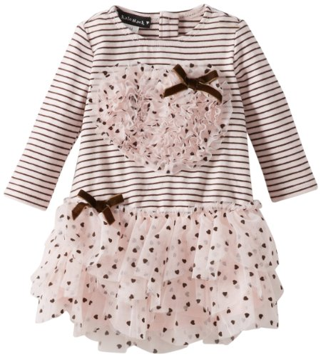 Save Price Kate Mack Baby-Girls Newborn Confetti Hearts Dress, Pink, 9 Months