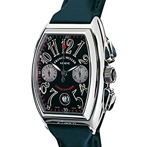 Franck Muller Conquistador WFM8005CC Automatic Stainless Steel Case Black Rubber Men's Watch