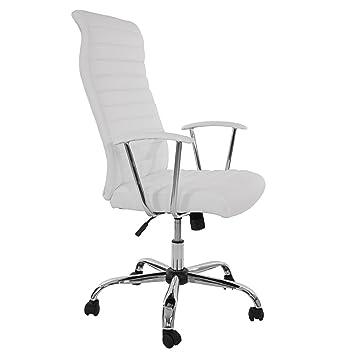 weiß schwarz Bürostuhl Drehstuhl Chefsessel Cagliari ergonomische Form