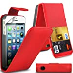G4GADGET� Apple iPhone 5/5S Red Flip...