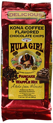 ハワイ「フラガールパンケーキミックス」(ホットケーキ粉)お徳用大袋 595g (コナコーヒーフレーバーチョコレートチップ)